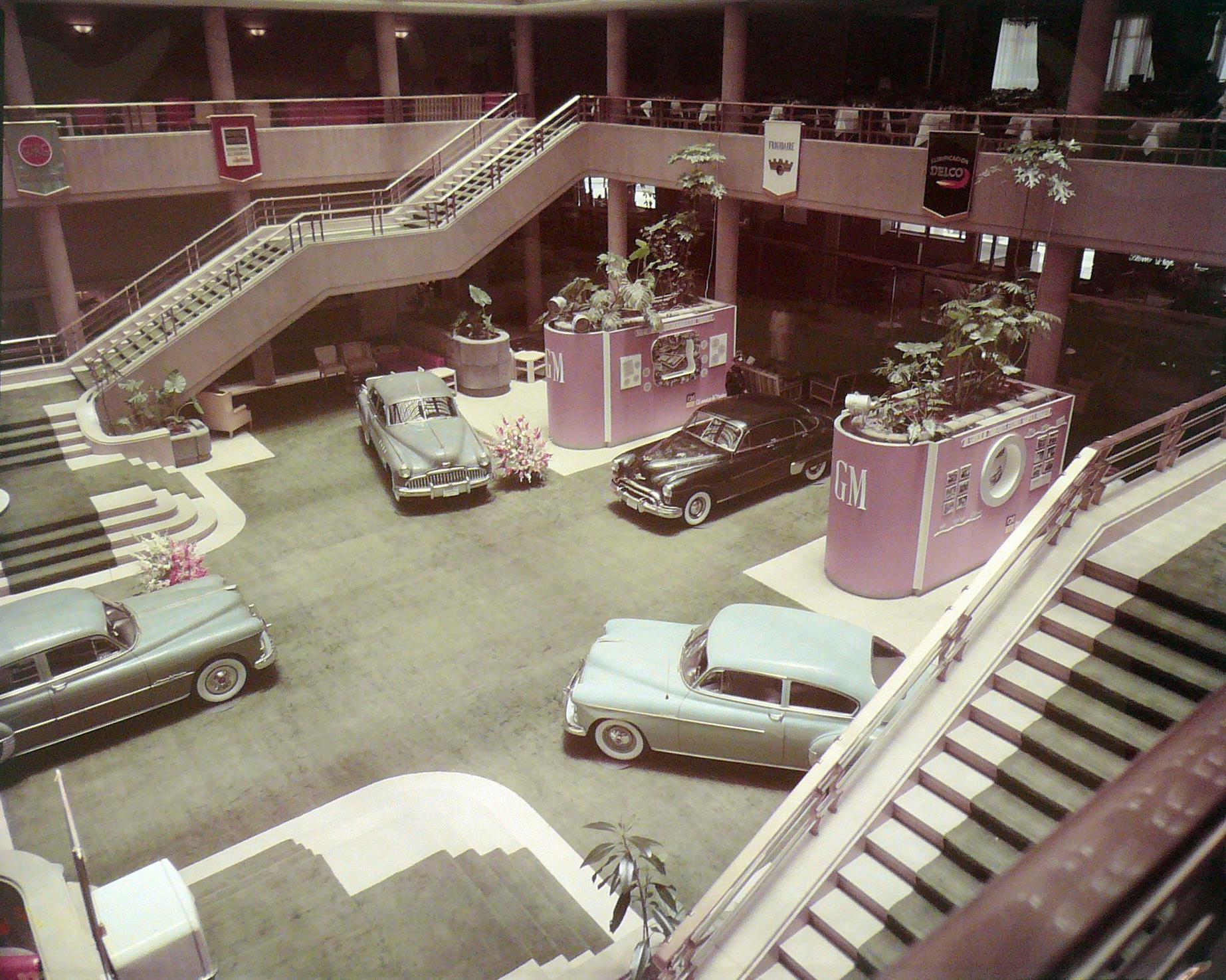 General Motors. Exposición en el Hotel del Prado, 19 y 20 de mayo de 1949