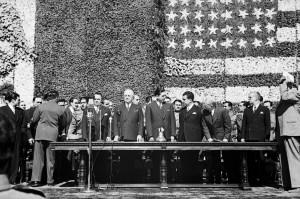 JUAN GUZMÁN, Harry S. Truman, presidente de Estados Unidos en una visita a México, México, 1946