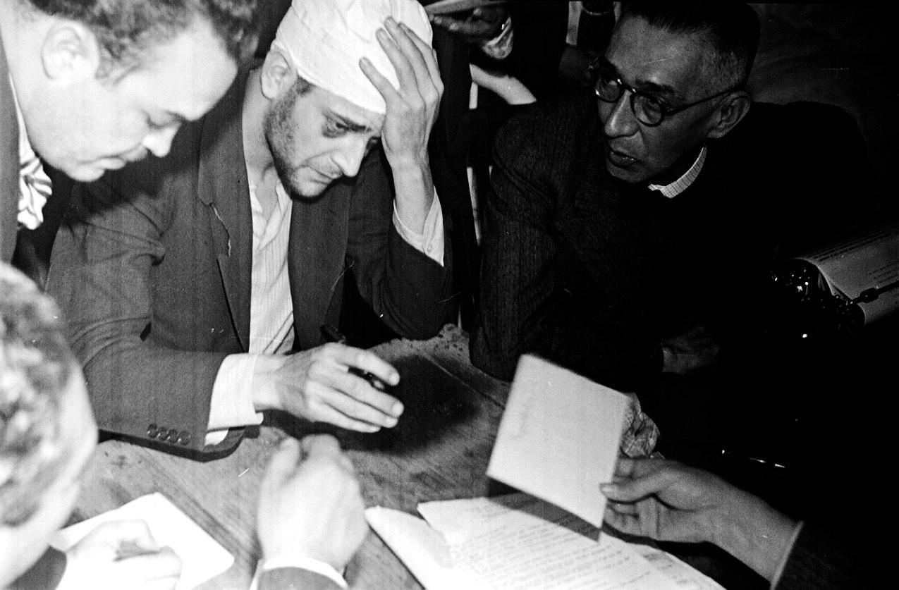 JUAN GUZMÁN, Asesino de Trotsky, Jacques Monard con el licenciado Bustamante, México, 1940
