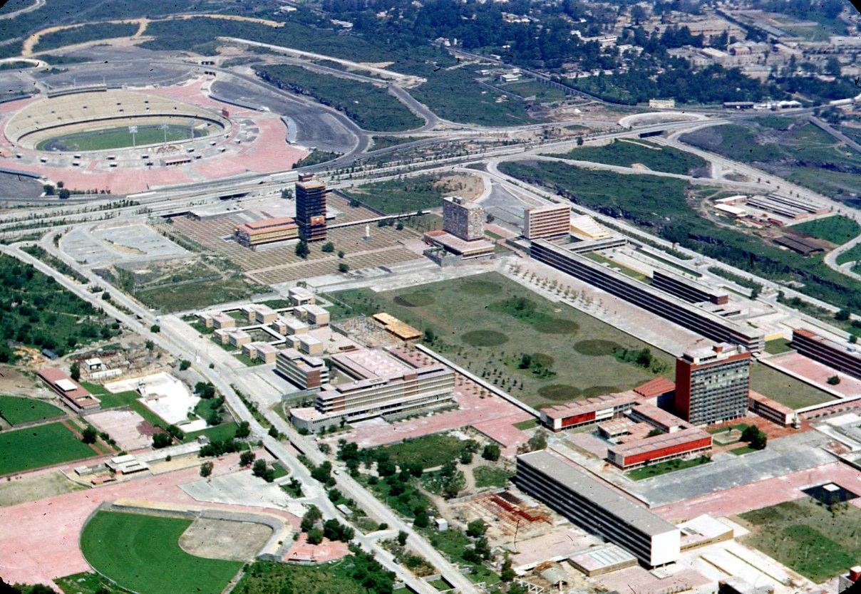 JUAN GUZMÁN, Vista aérea de Ciudad Universitaria, Ciudad de México, México, 1953