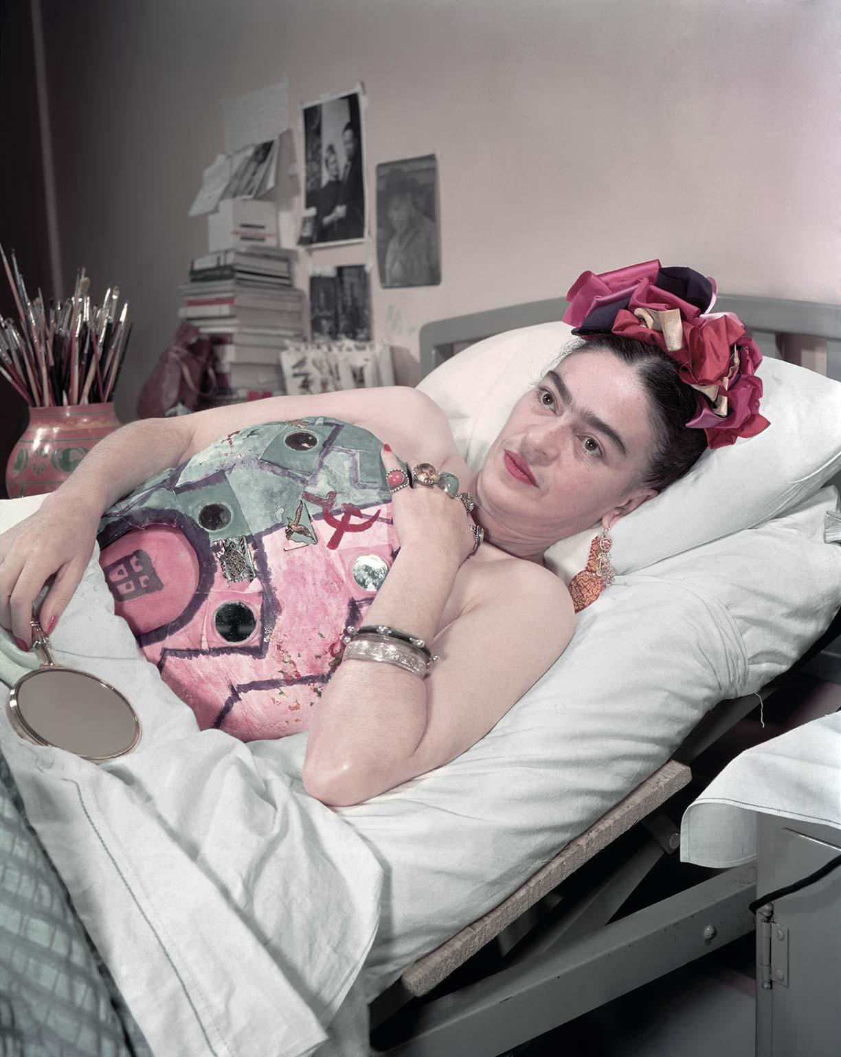 Frida Kahlo en el Hospital Inglés, 10 de noviembre de 1950